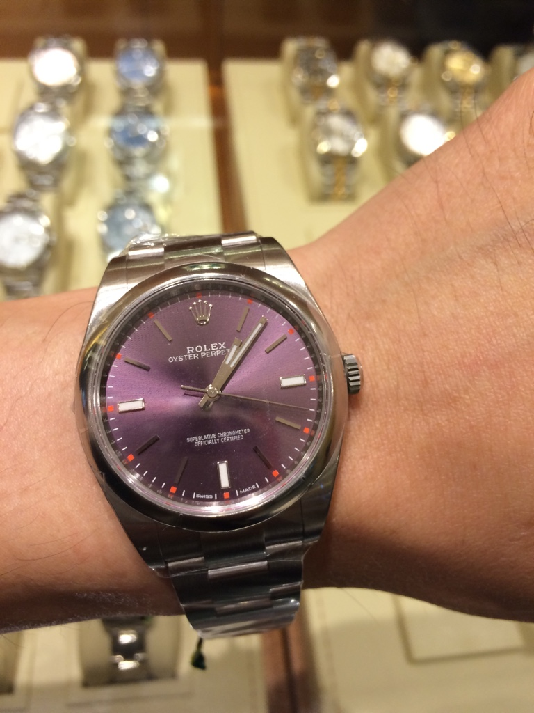 Rolex Oyster Perpetual 39mm Red Grape
