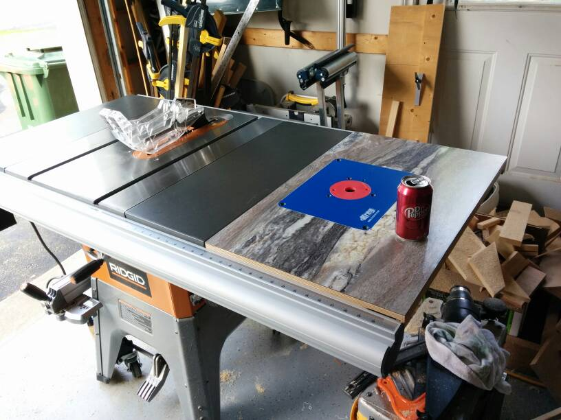 New router table insert in table saw power tools wood talk online share this post greentooth Choice Image