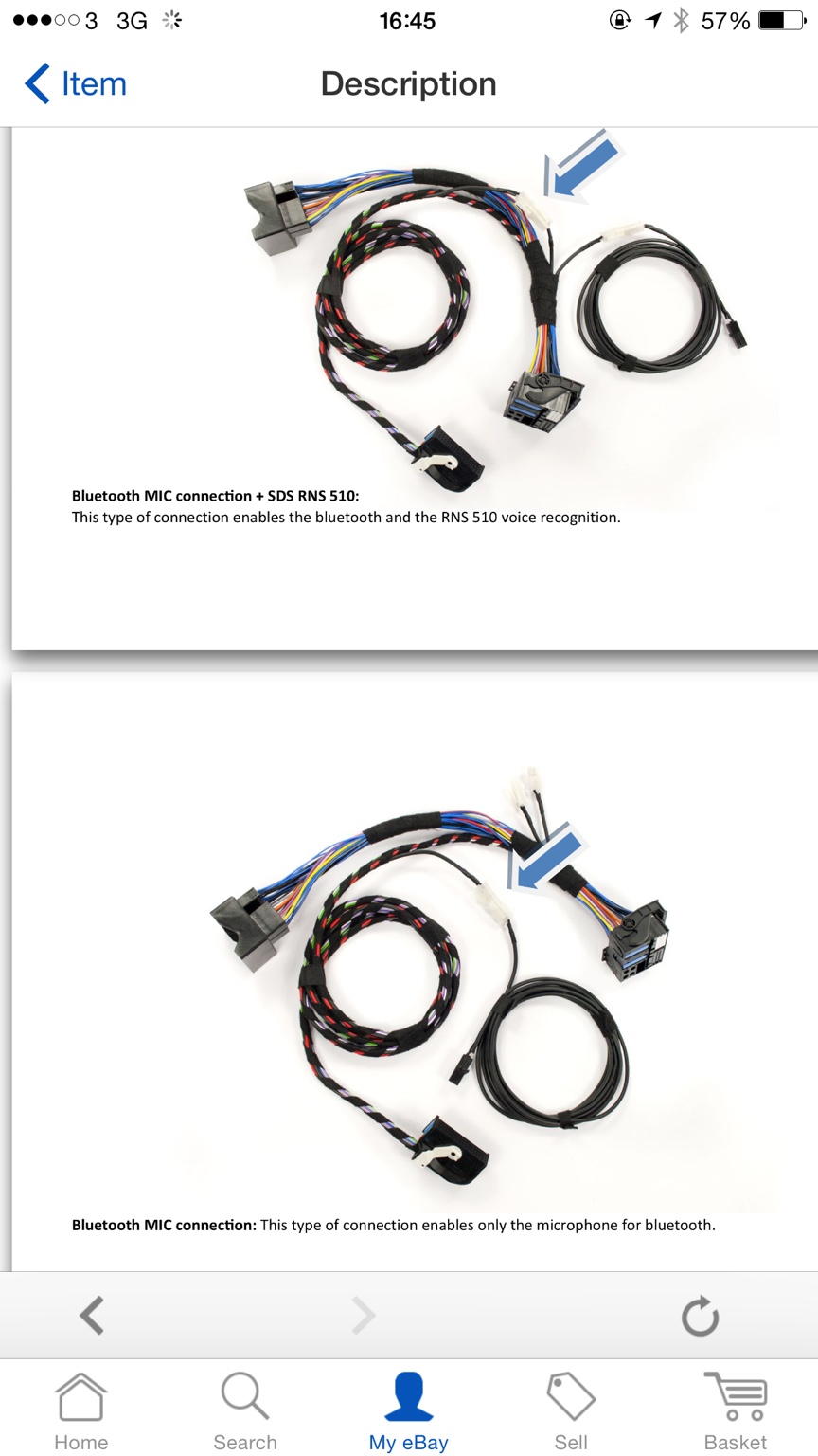 Scirocco Central View Topic How To Install Vw Oem Bluetooth Retrofit Wiring Harness Connector Types If You Is Pretty New Might Have A Couple Of Plug And Play Connectors Which Can Switch Between As In The Pic Below