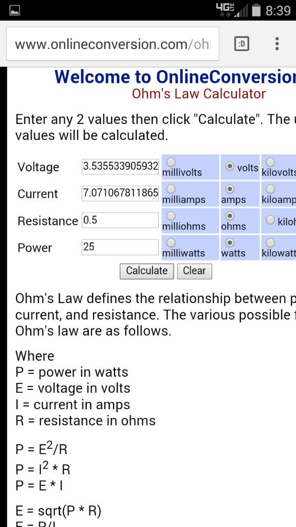 Help With Ohm To Volt Ratio Vaping Underground Forums An Ecig