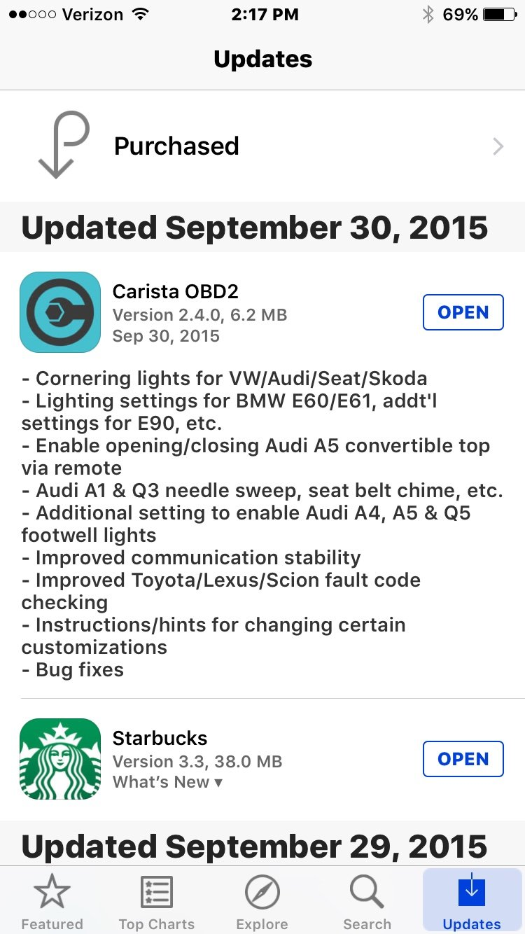 Carista app for iOS beta testing [wrench] [Archive] - Page 3
