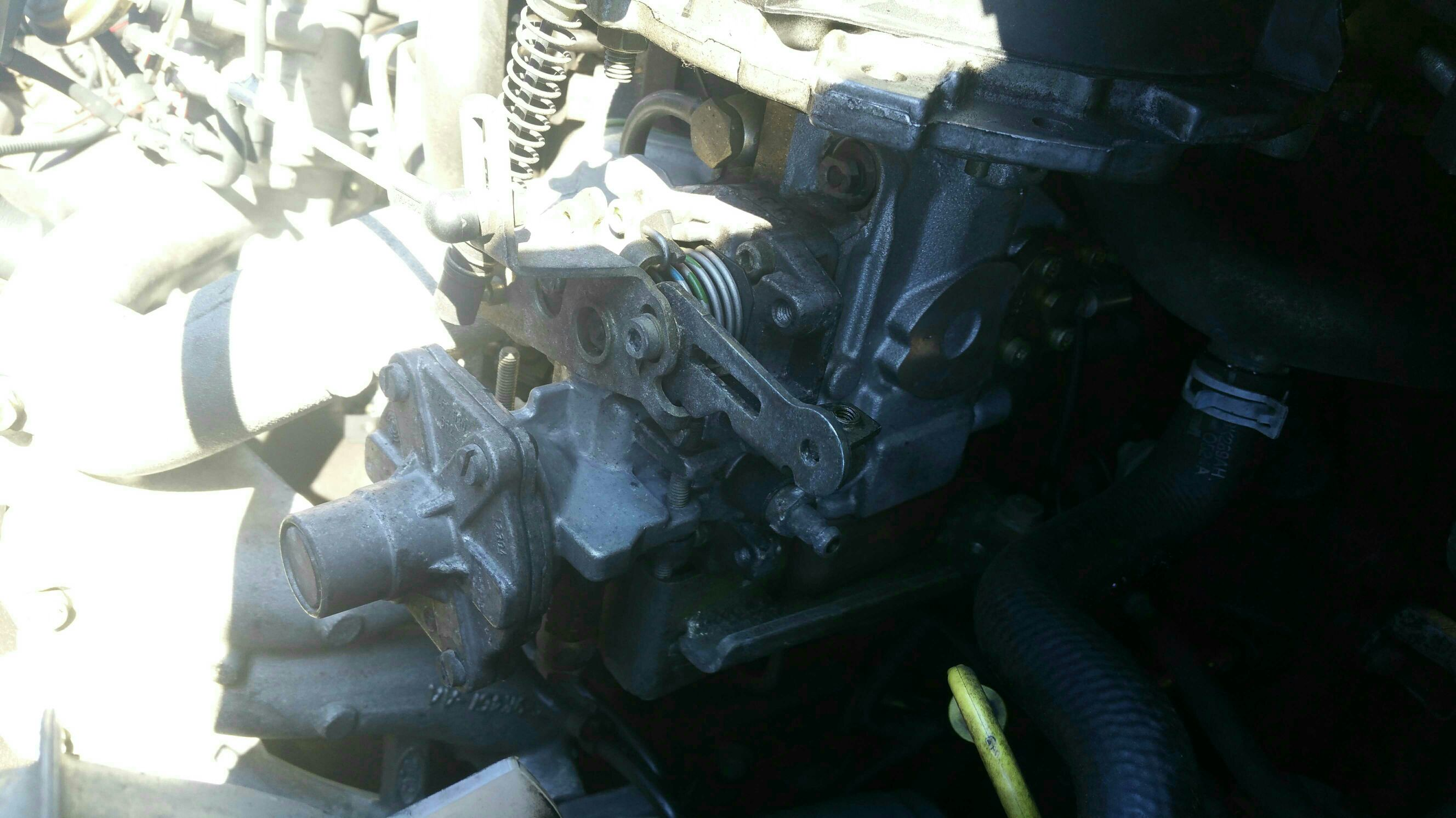 Fuel pump leaking into timing belt area