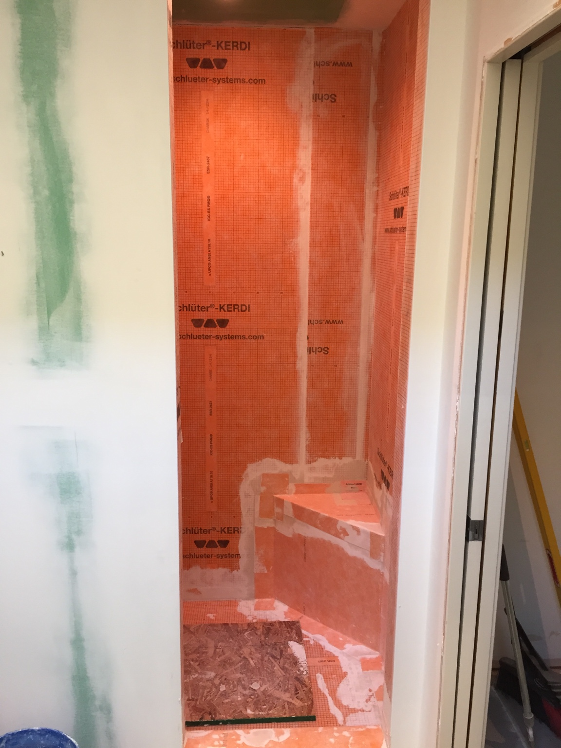How Long To Waterproof Typical Shower With Kerdi. - Tiling ...