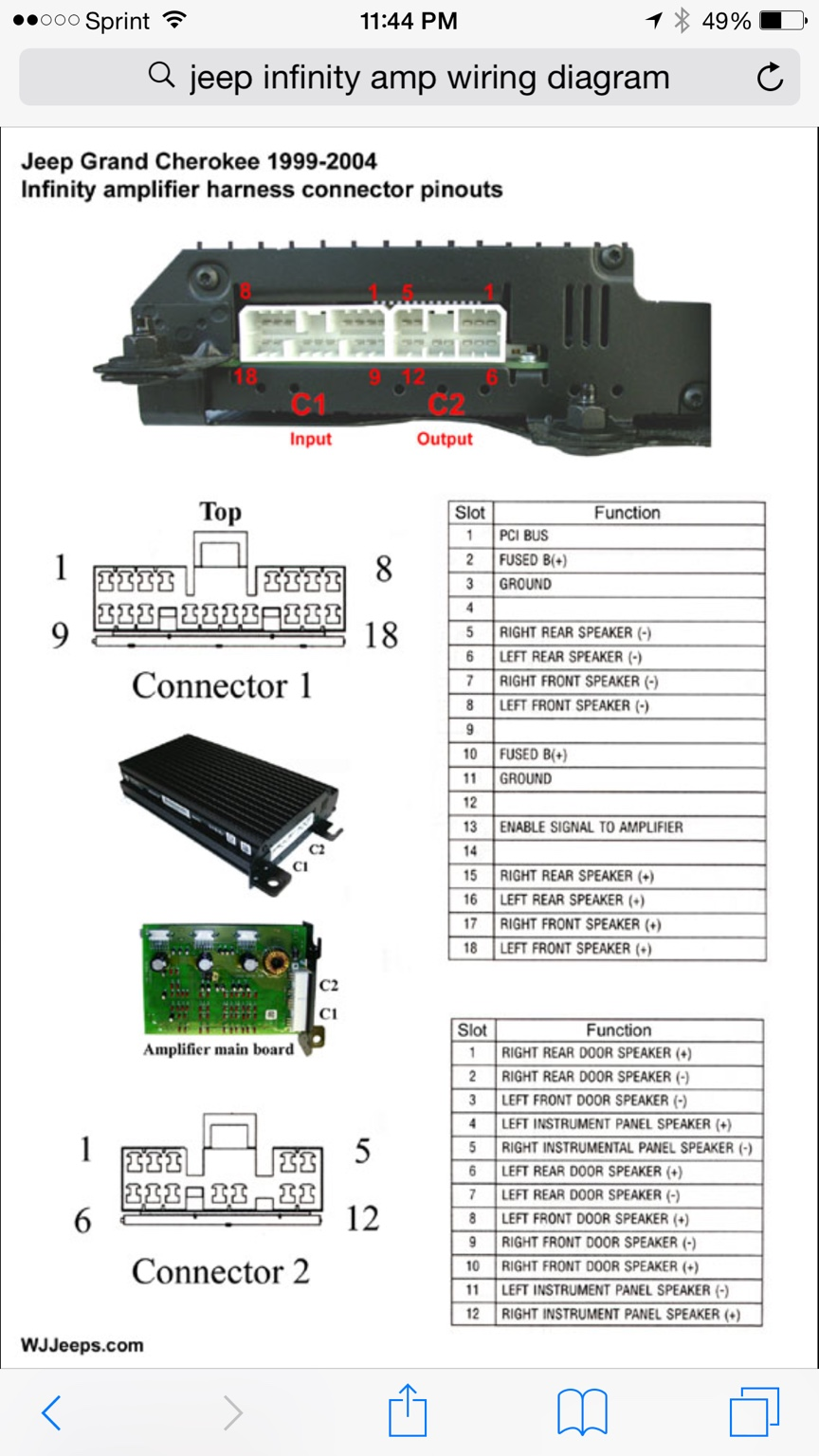 Jeep Amp Wiring Free Diagram For You Infinity 1998 Grand Cherokee Diagrams Scematic Rh 68 Jessicadonath De Factory Wj