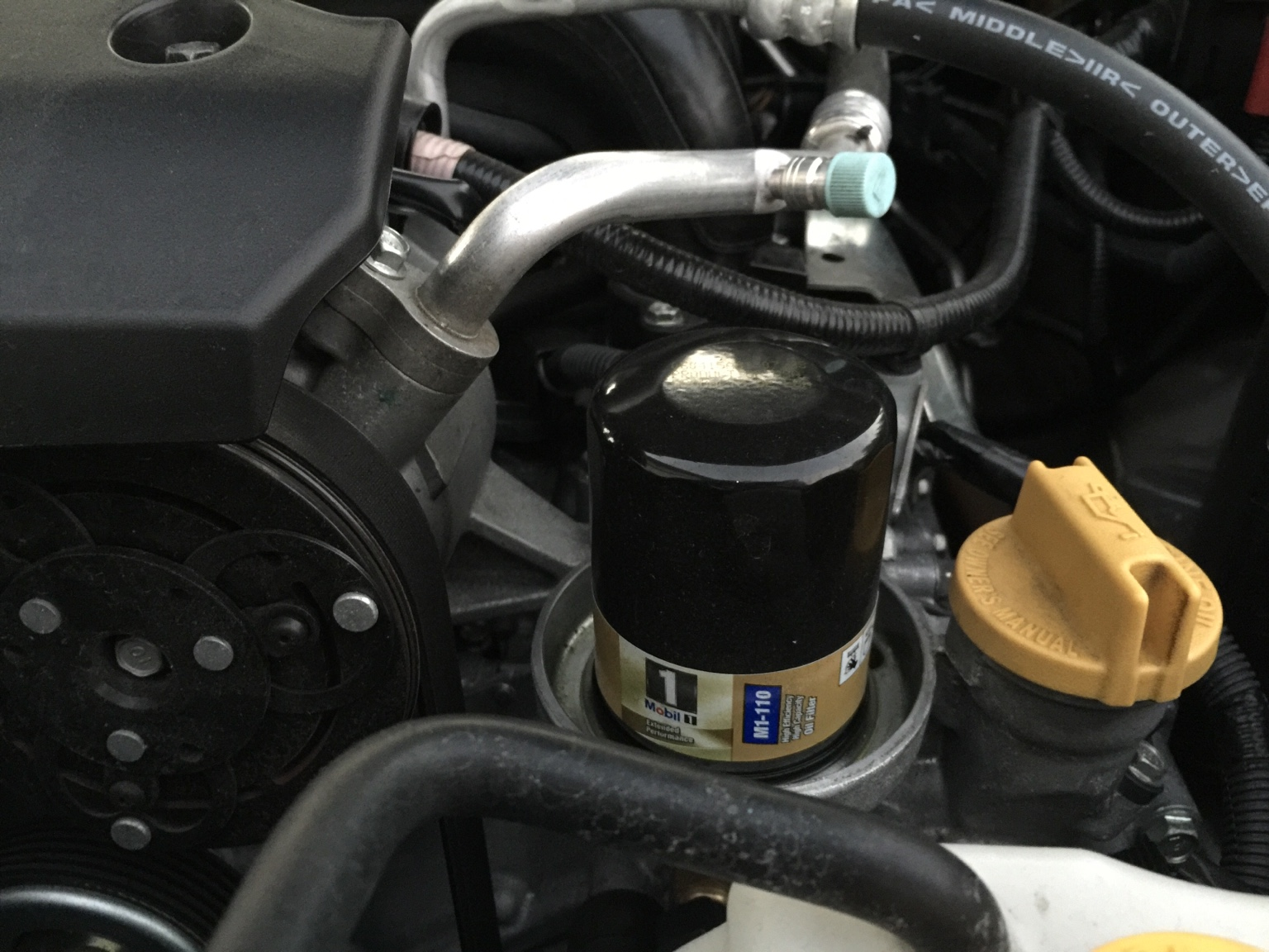 Mobil 1 Oil Filter 108 Or 110 2013 Subaru Impreza Fuel Location Second Change Ive Done Using These Filters And They Work Just Fine The Book In Advance Auto Parts Had It Listed I Went With