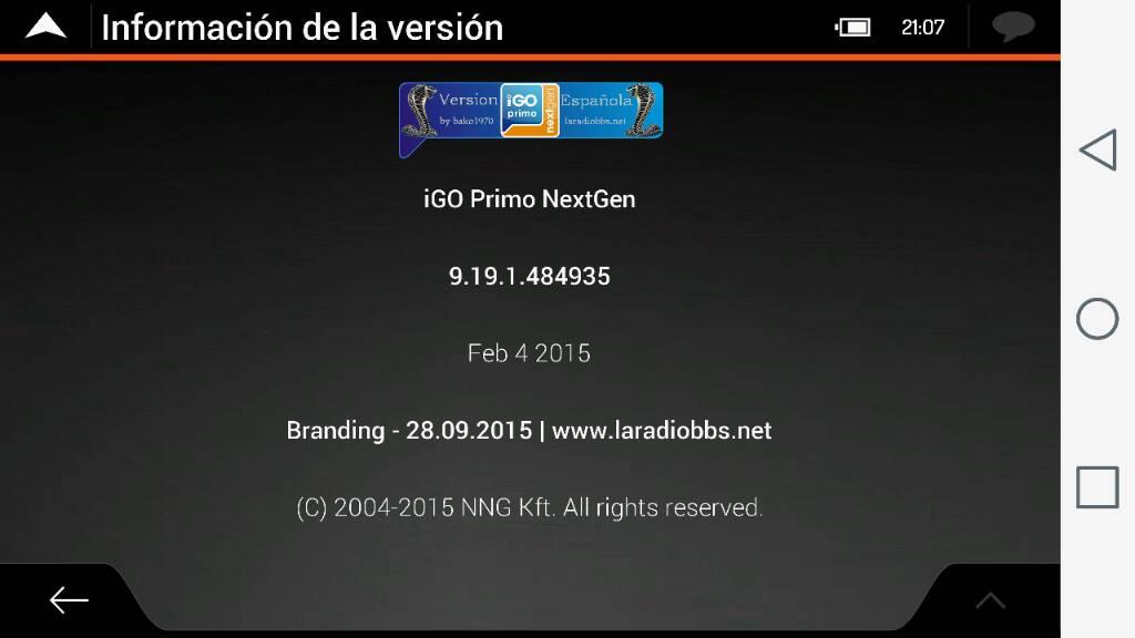 iGO Primo NextGen 9 19 1 484935_ES para Android todas
