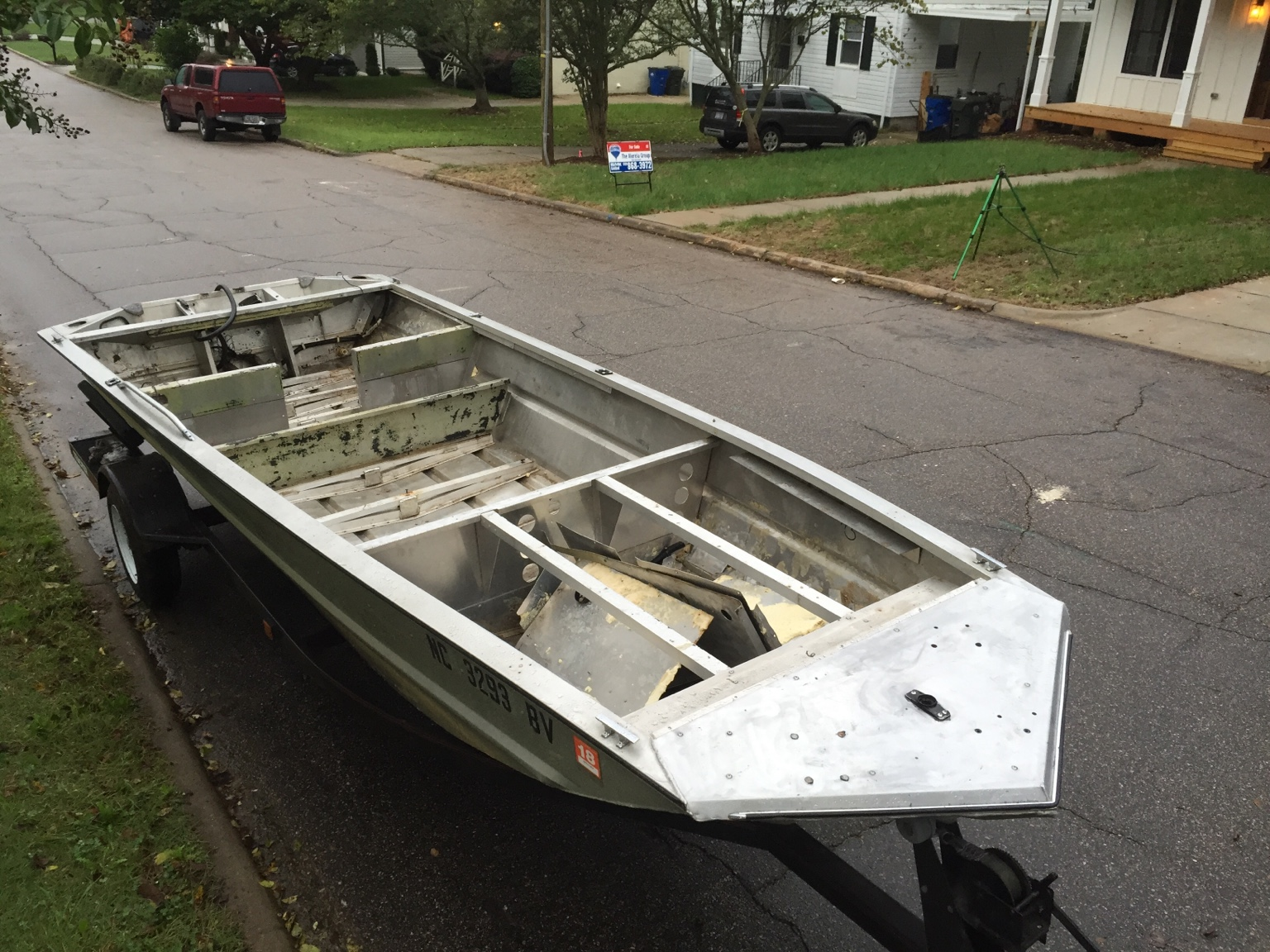 Duck Hunting Chat • 1st Duck Boat Build -Bass Tracker Conversion ...