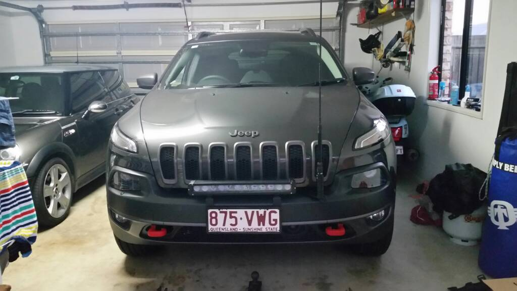 Show off your leds or lightbars 2014 jeep cherokee forums 180w single row 20in light bar aloadofball Image collections