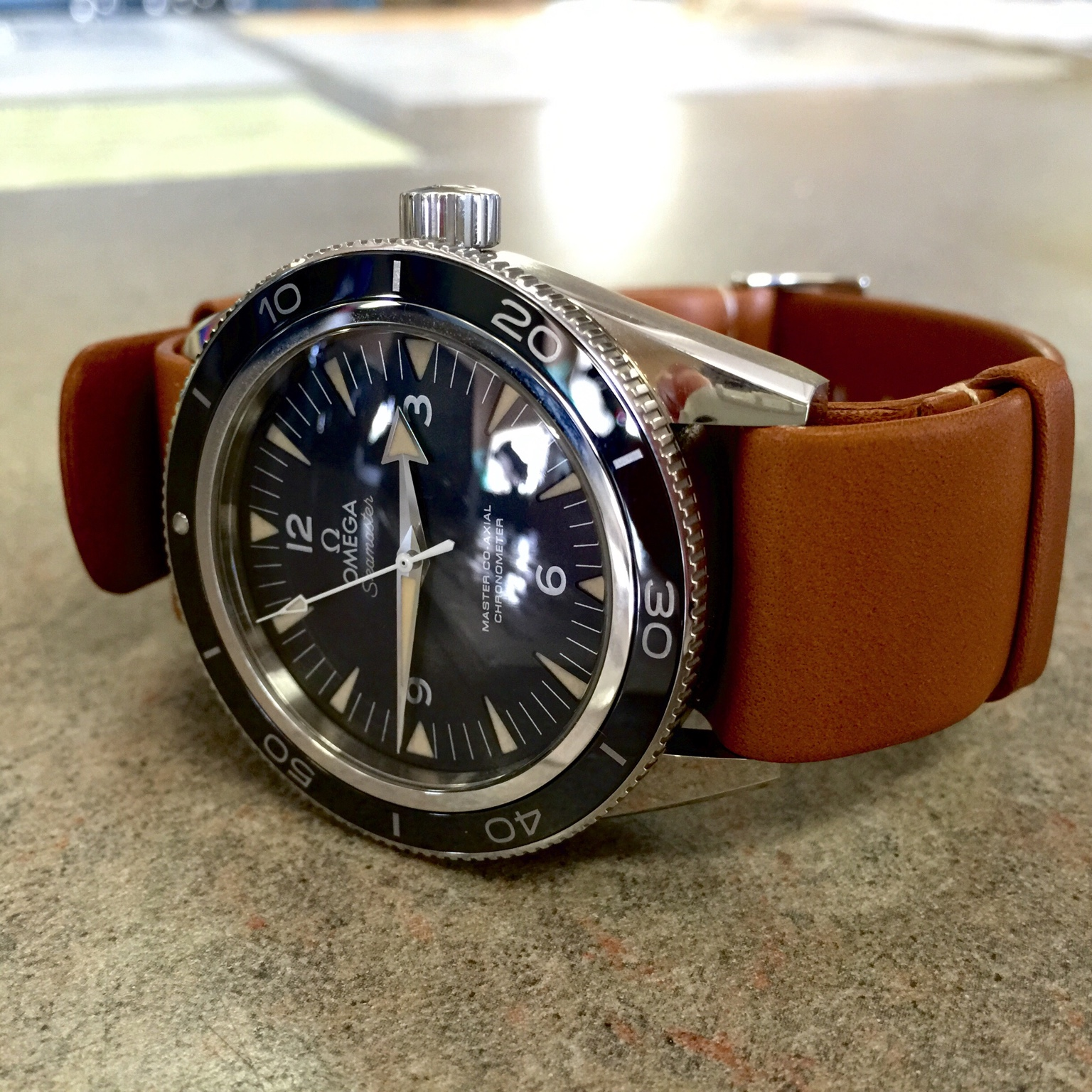 Omega Seamaster Leather Nato Strap
