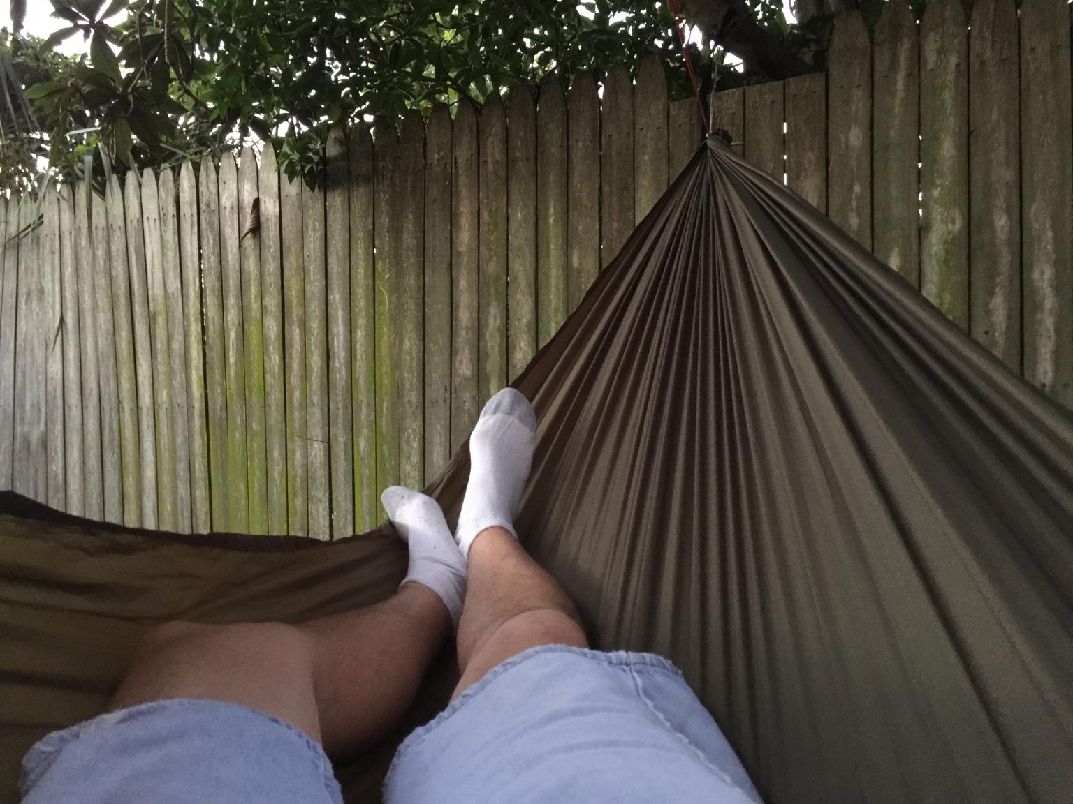 i u0027m not sure if it u0027s because i u0027m under 6 ft  tall but i u0027m preferring hammocks in the 10 u0027 range  here u0027s a couple pics  diy hammock  3  rh   hammockforums