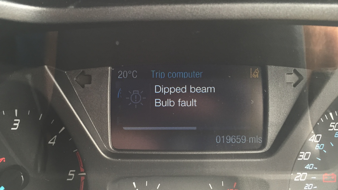 Dipped Beam Bulb Fault Ford Transit Custom - New Images Beam