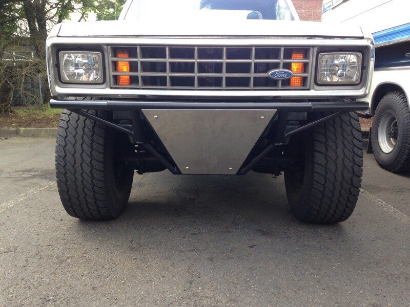 Pre runner bumper ford ranger forum tubing with a skid plate maybe a few kc lights or a light bar and possibly a stinger i have a design i like from a different user on the trs forums aloadofball Gallery