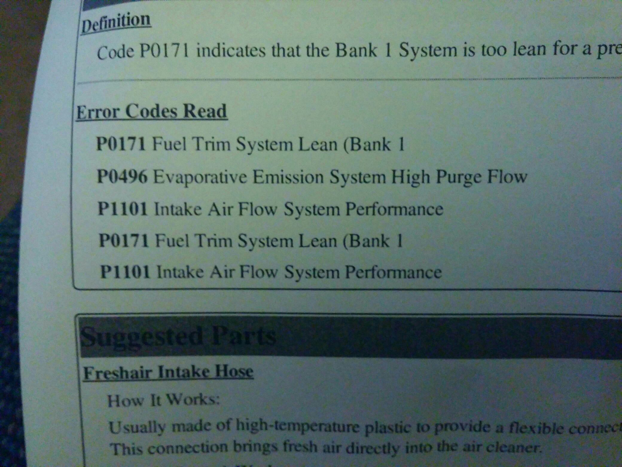 Rough Idle, intake not sucking right  - Chevy Sonic Owners Forum