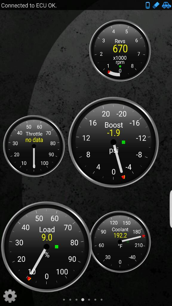 Boost pressure display question