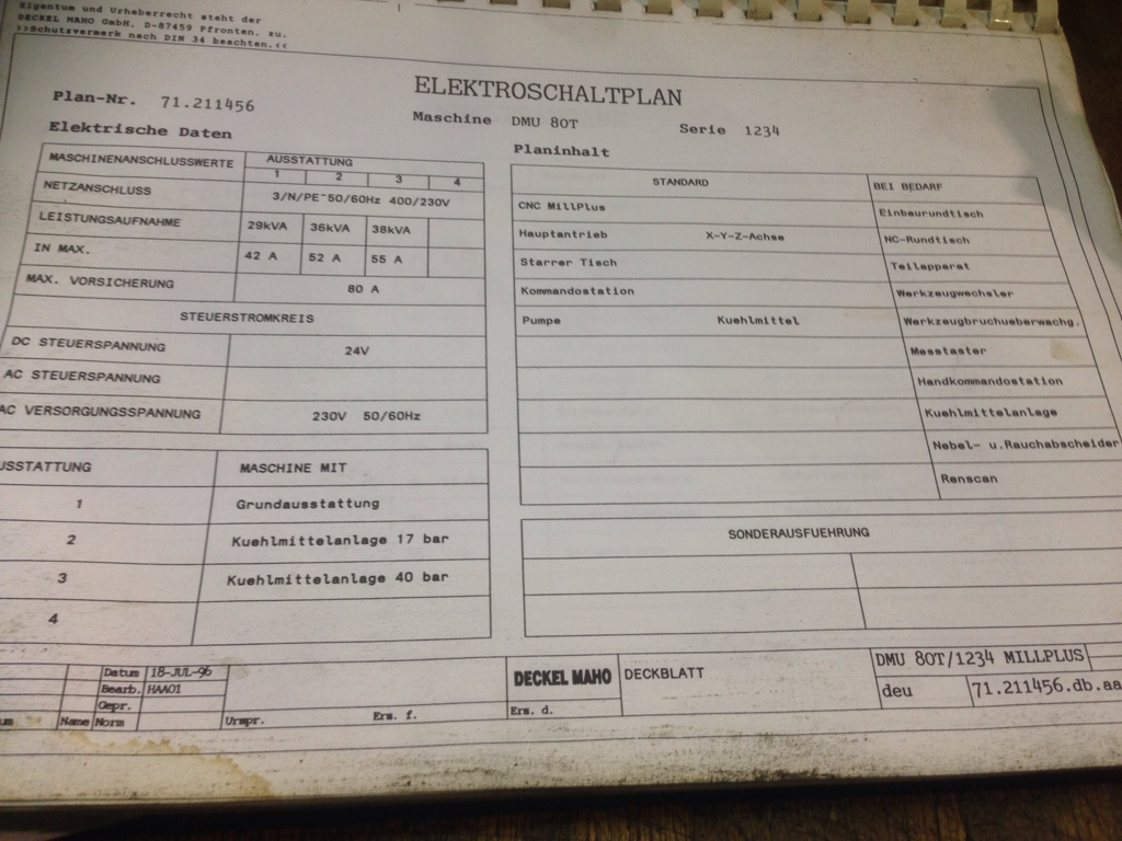 Deckel, Maho, Aciera, Abene Mills > MillPlus Control Need Service Manual