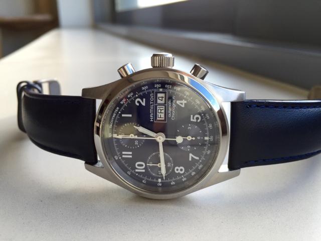 e509f1a5f FS: Hamilton Khaki Automatic Chronograph, Valjoux 7750, serviced!