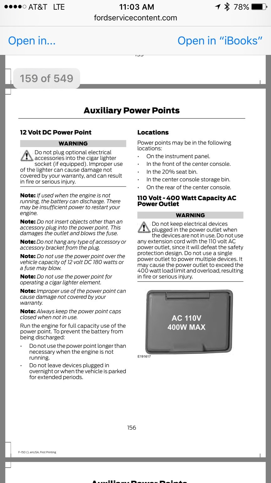 400w Power Outlet Wont Battery Charger Ford F150 Forum 1978 Charging Wiring Diagram Re