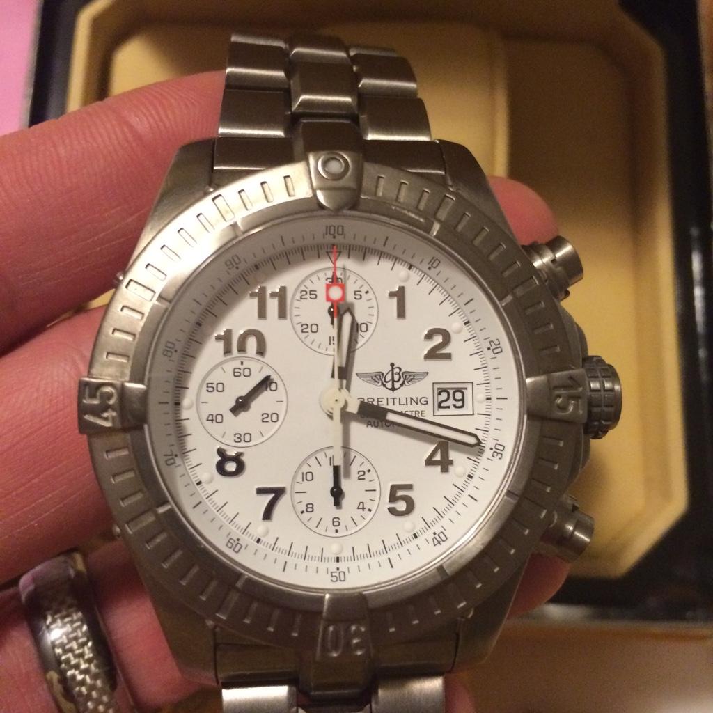 wholesale dealer da183 fa7d8 Breitling chrono avenger E13360 all titanium white dial