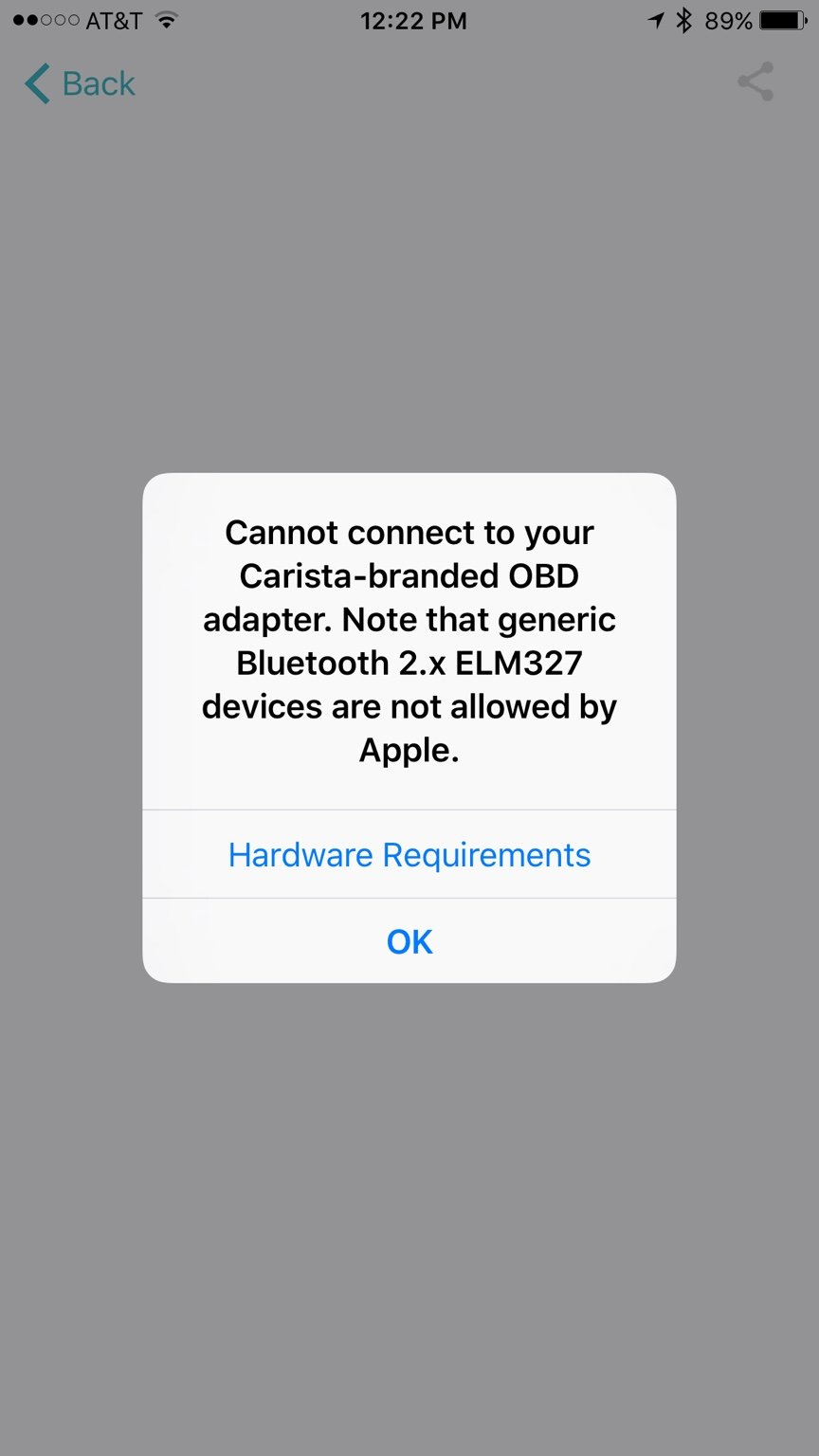 Carista app for iOS beta testing [wrench] - Page 23