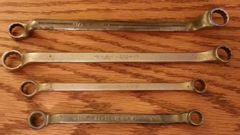 economy version of Craftsman manifold /& starter wrench 58 and 916 Chrome Vanadium Steel Vintage 1950/'s Merit Tools