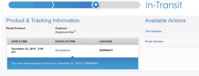 Best way to track a package sent with Deutsche Post?