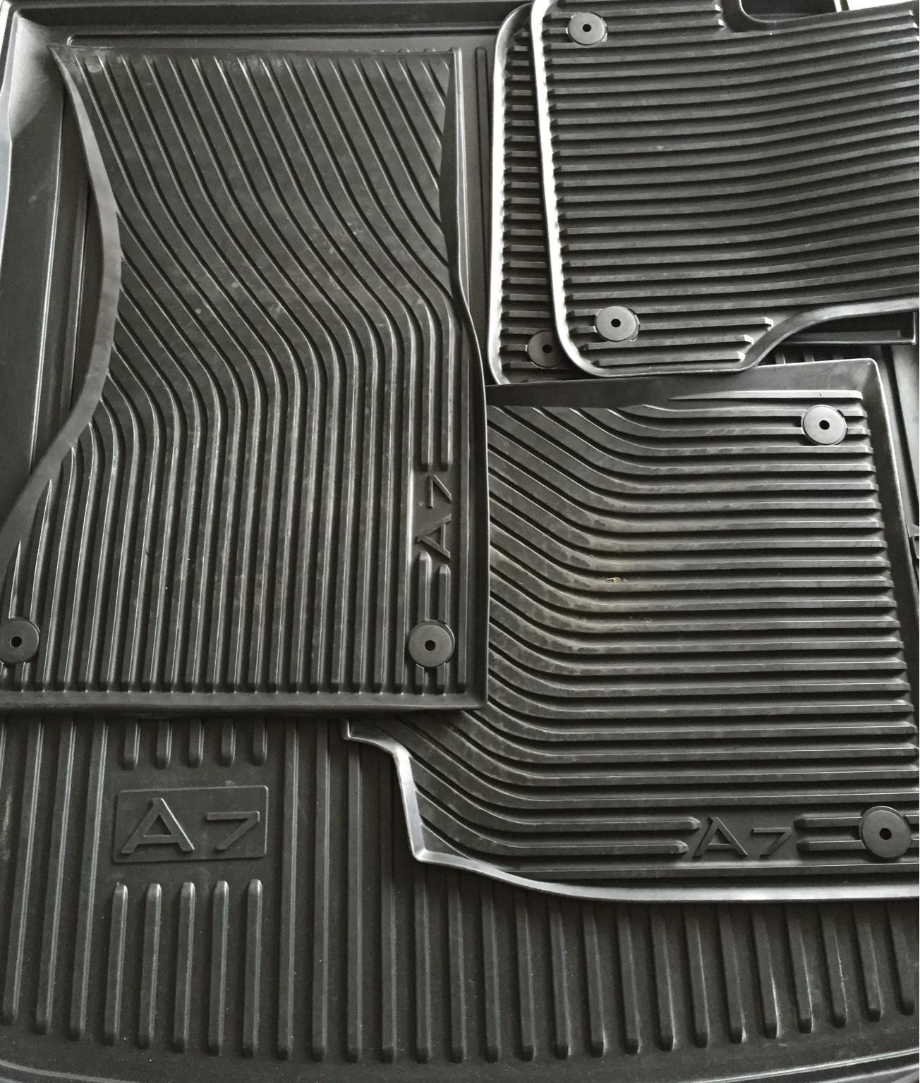 For Sale OEM Audi A C Rubber Floor Mats And Trunk Liner - Audi 90 car mats