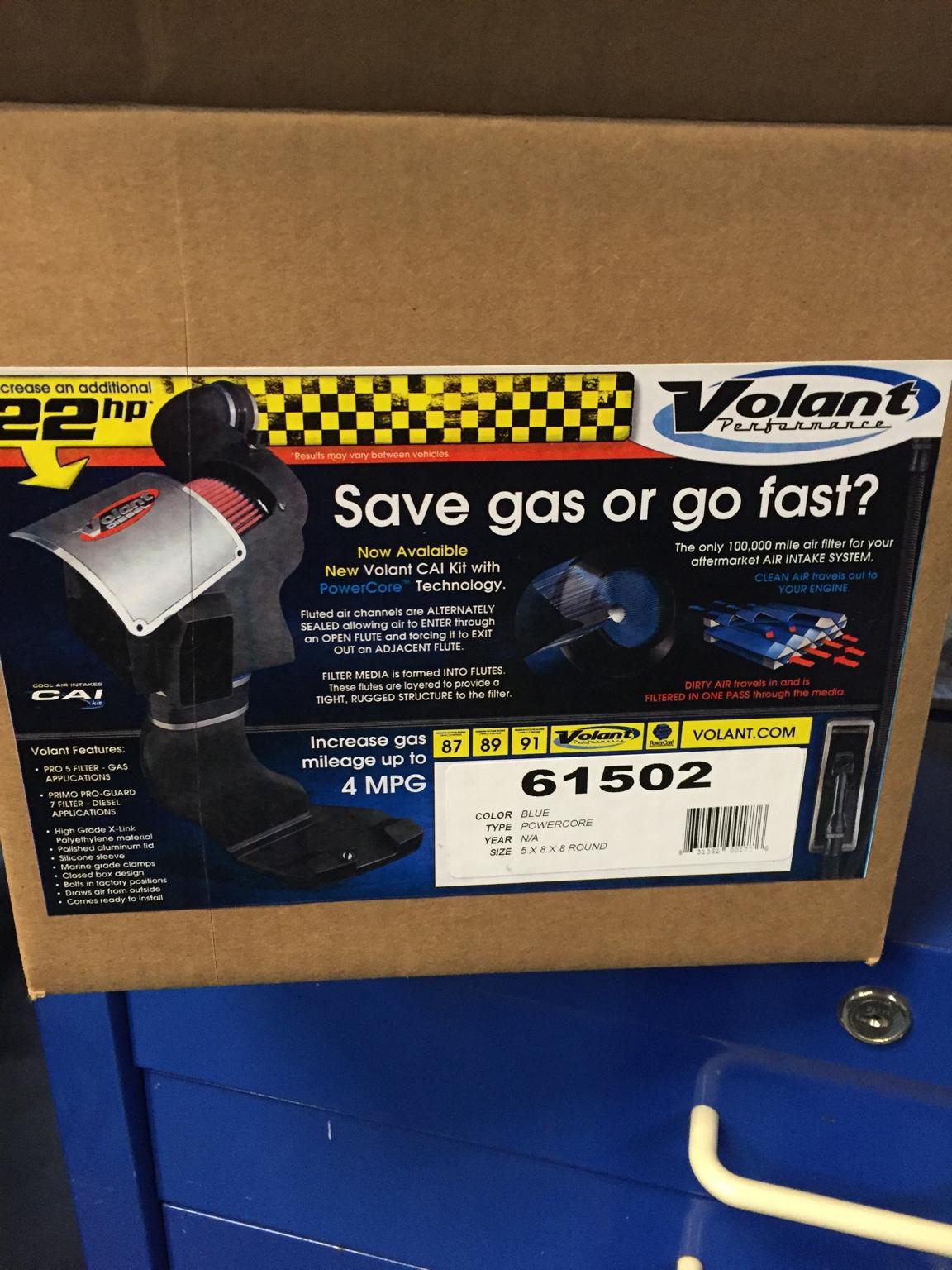 Volantr Cai Kit With Donaldsonr Powercoretm Filter Installed