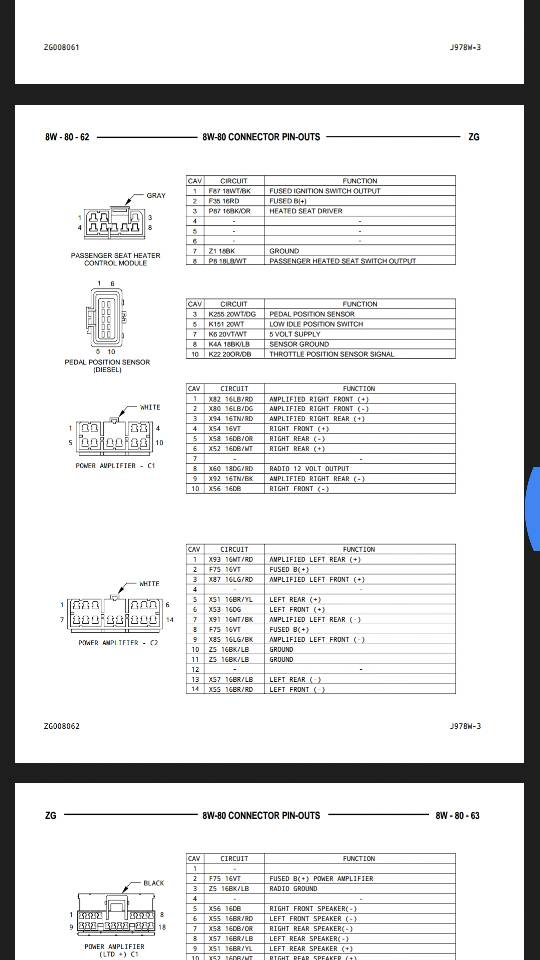factory radio and amp wiring diagram? - jeepforum.com  jeep forum