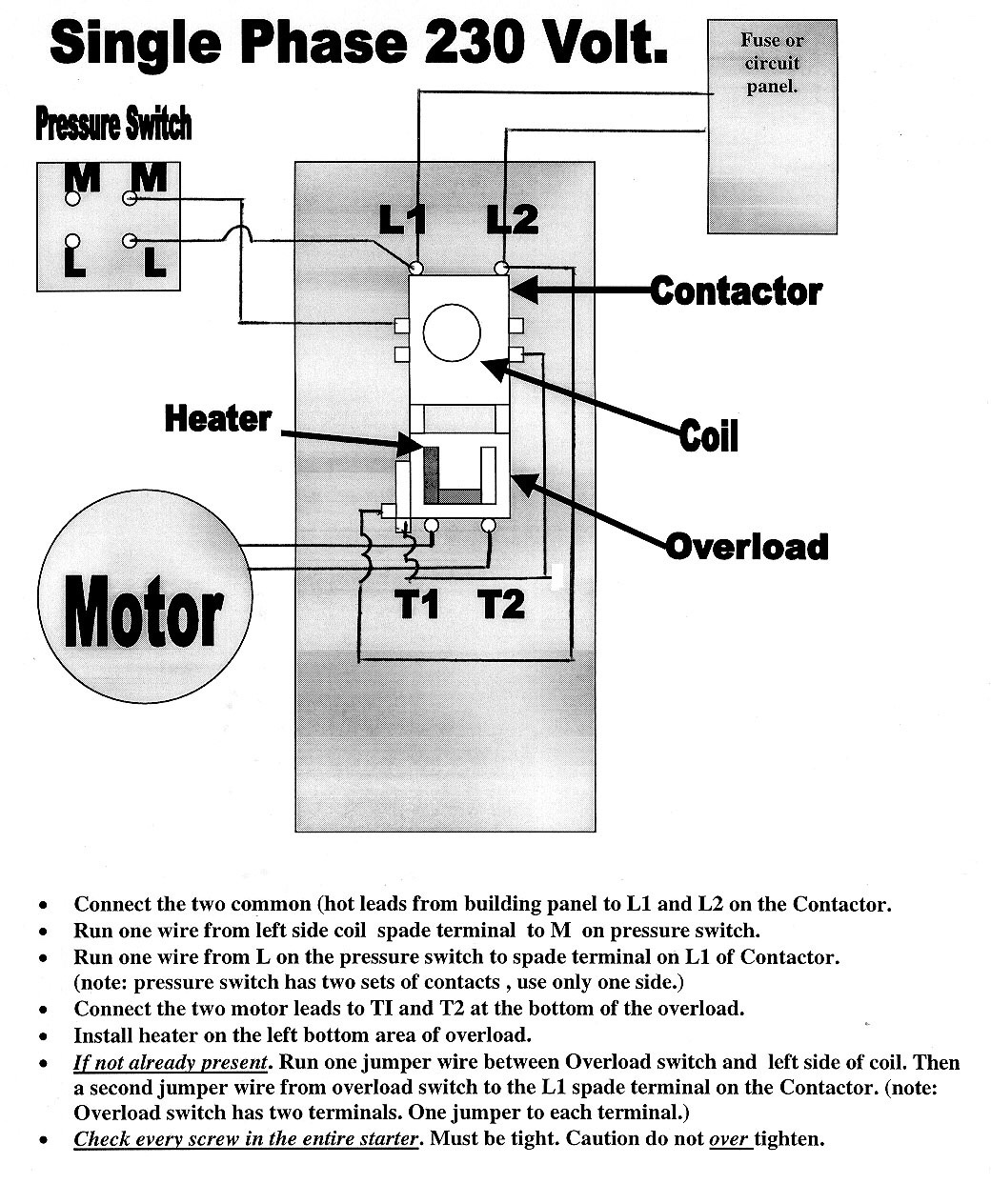 Quincy compressor wiring diagram on 3 phase air compressor wiring diagram efcaviation com quincy air compressor wiring diagram A 240 Volt Motor Starter Wiring