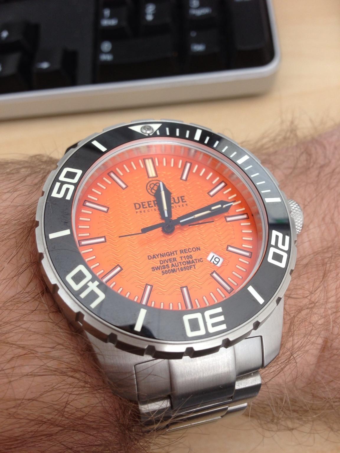 Orange dial dive watch - Orange dive watch ...