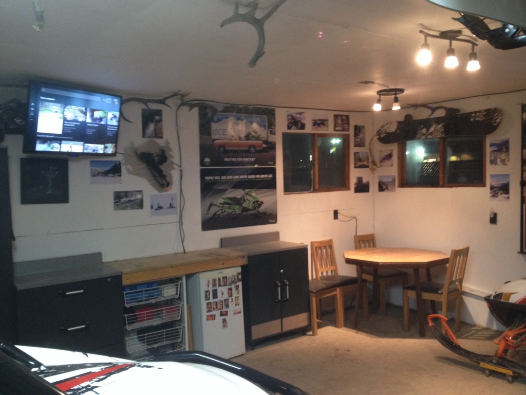 Man Cave Above Garage : Let s see your man cave garage shop