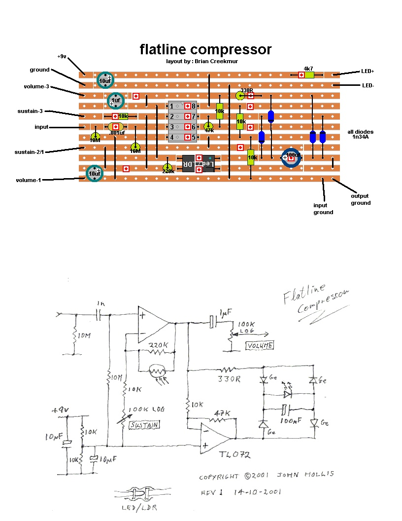 Flatline Compressor Light Dependent Resistor Circuit Diagram On A I Ordered Few Resistors Ldr Months Ago And Finally Got Around To Building Myself John Hollis