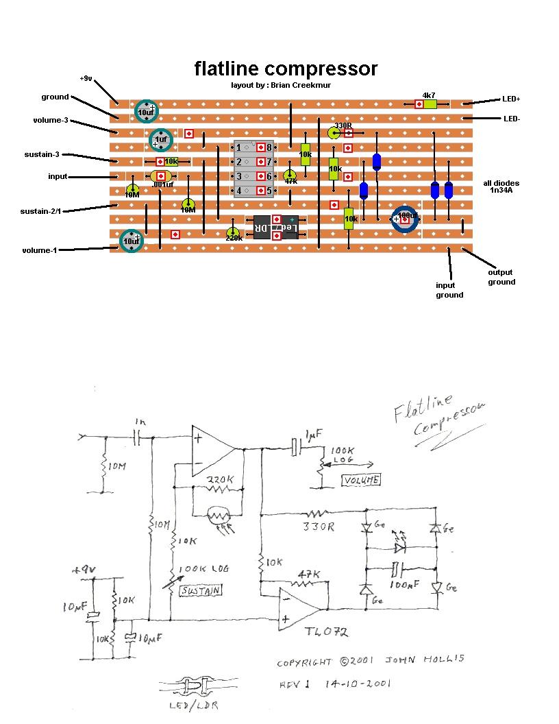 Flatline Compressor Resistor Circuit Diagram Light Dependent I Ordered A Few Resistors Ldr Months Ago And Finally Got Around To Building Myself John Hollis