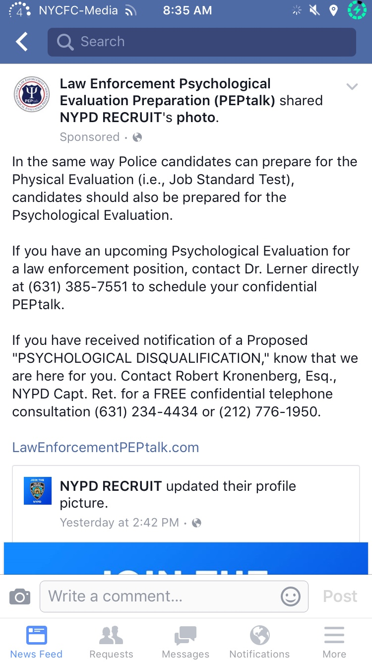 NYPD Psych DQ or on NYPD psych review info and help