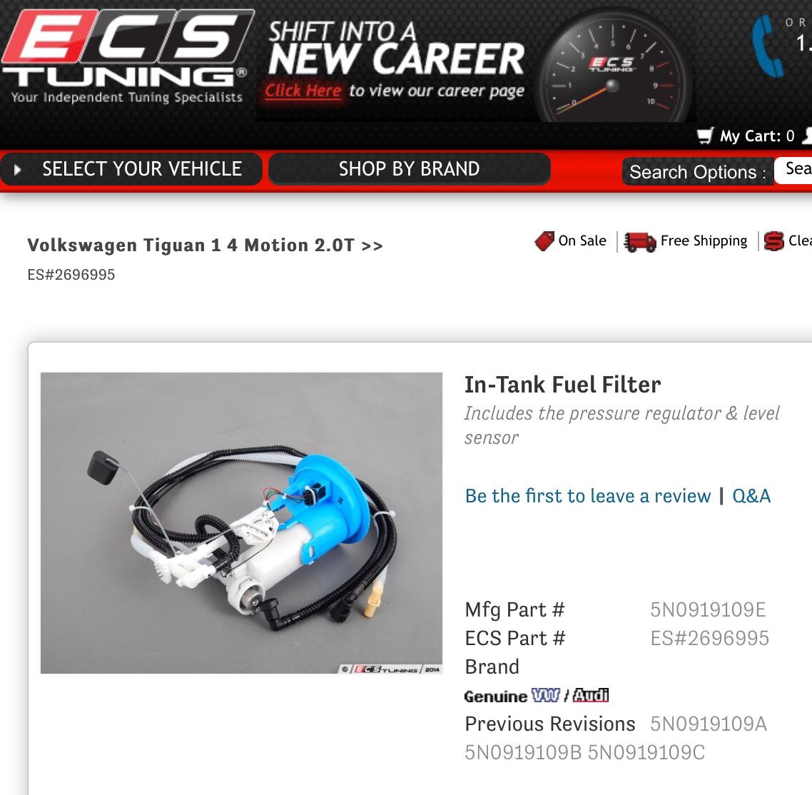 [SCHEMATICS_4LK]  VWVortex.com - VW Tiguan has no fuel filter? | 2009 Vw Pat Fuel Filter |  | Forums (VWvortex)