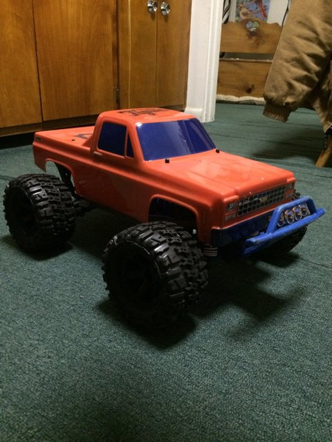 Front bumper lights i use the slash 4x4 rpm front bumper with the traxxas stampede light bar aloadofball Gallery