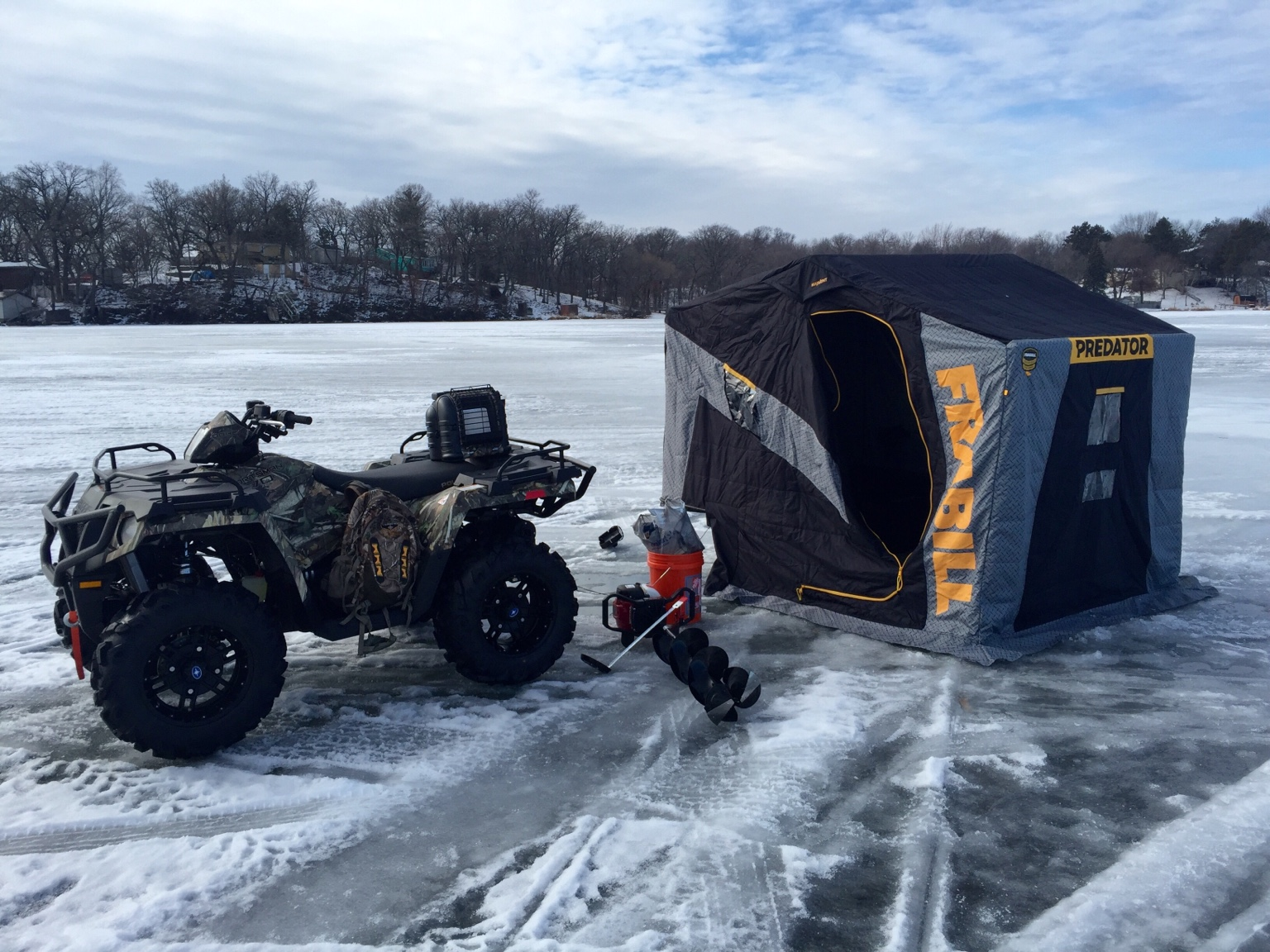 Sportsman 570 ice fishing mods polaris atv forum for Ice fishing forum