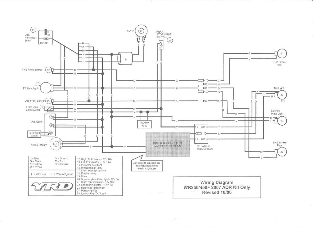 brake switch 2003 wr450