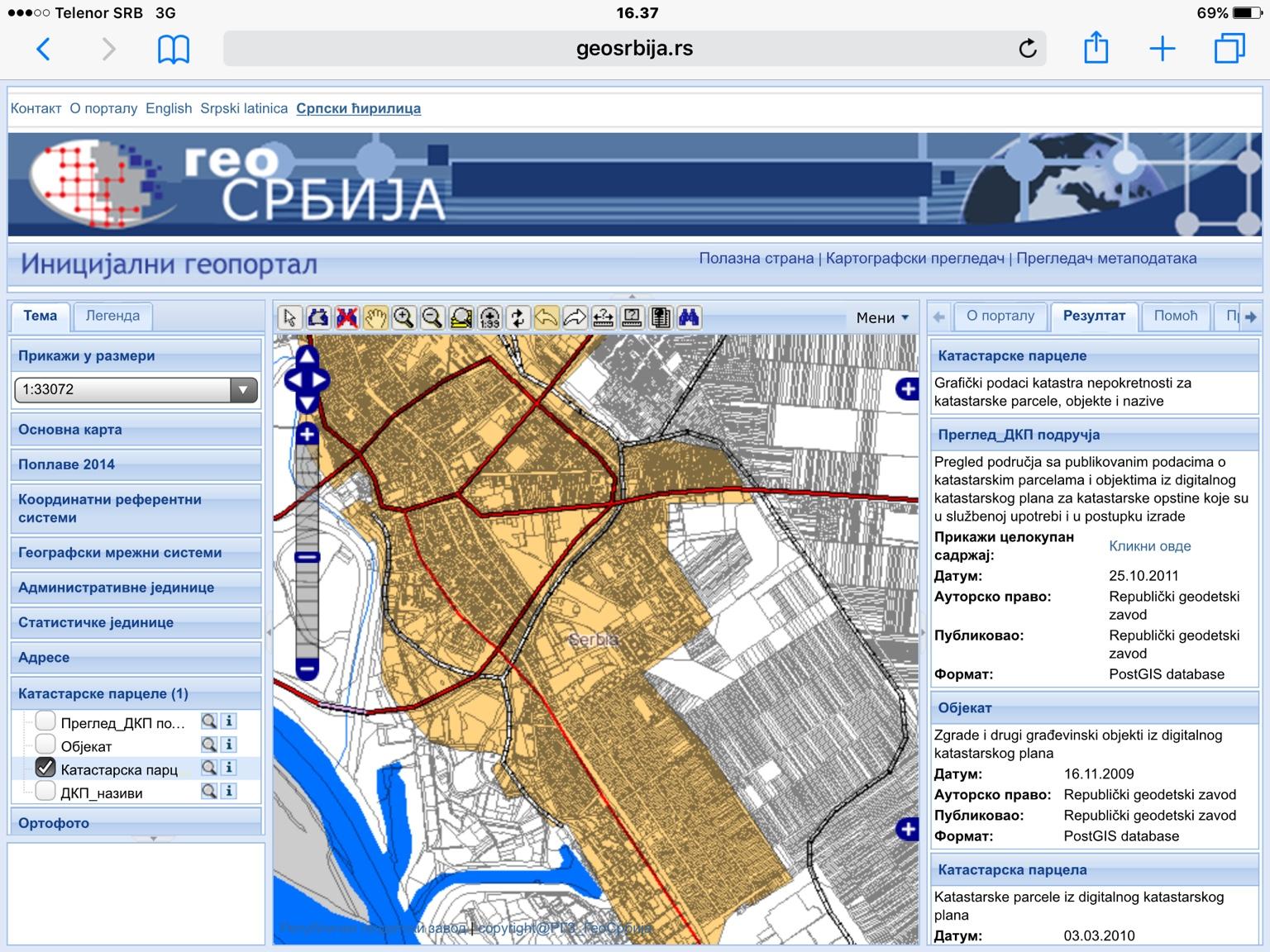 katastar srbija mapa Precizno merenje parcela uz pomoć sajta Katastra nepokretnosti i  katastar srbija mapa
