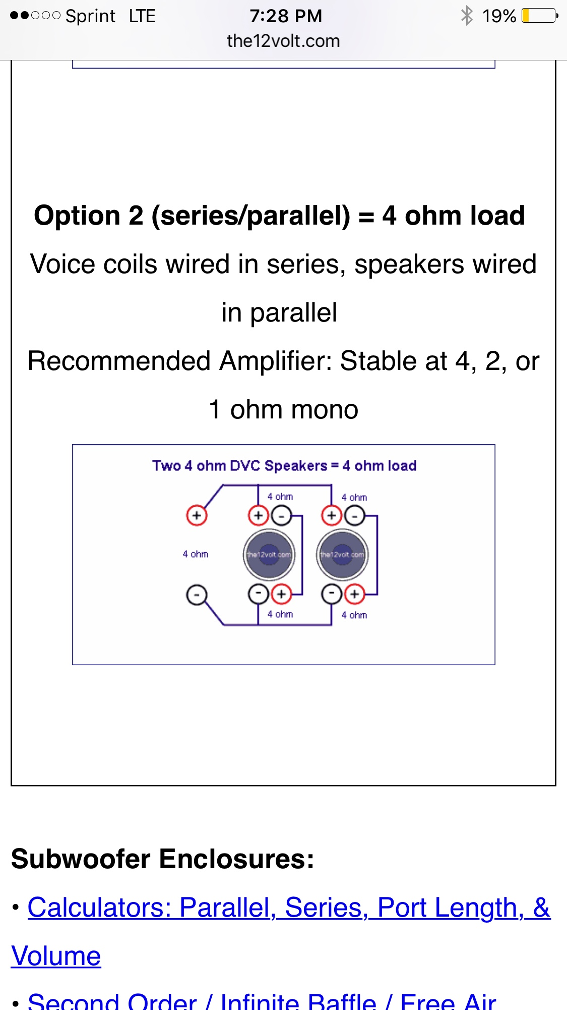 Infinity 1260 1262 Information Qa And Build Link Thread Avs Forum Speakers Wired In Parallel Recommended Amplifier Stable At 1 Ohm Mono Theres Only One Way To Wire Two Of These