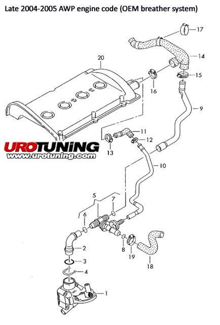 1 8t crankcase breather hose diagram