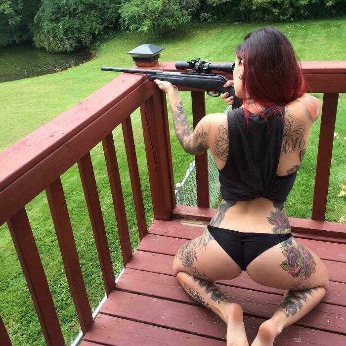 Sexy girl shooting