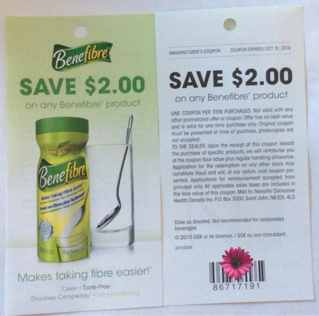benefiber canada coupons