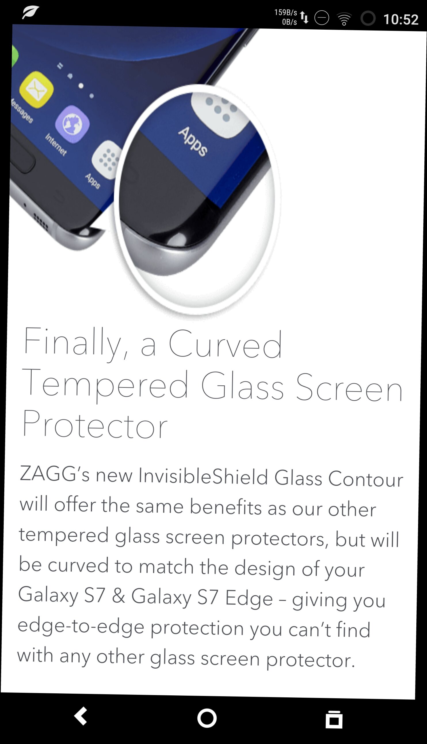 S7 Edge Tempered Glass Screen Protectors