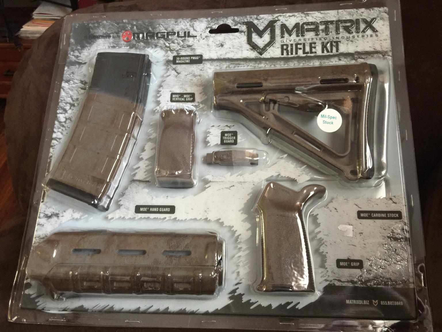 Kimber Forum Magpul Matrix Furniture Kit M4 Ar15