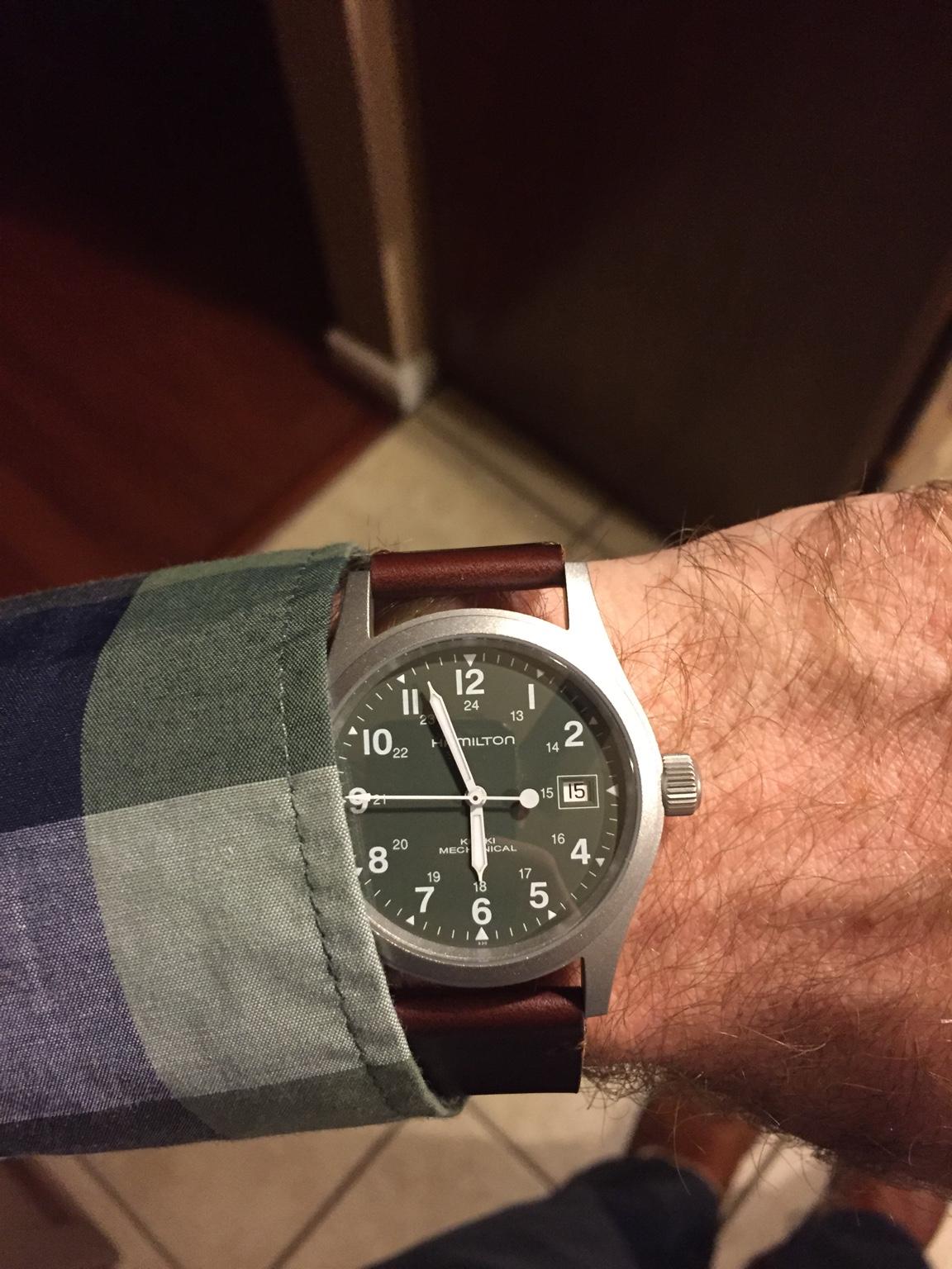 New watch arrival: Hamilton Khaki Field mechanical green ...