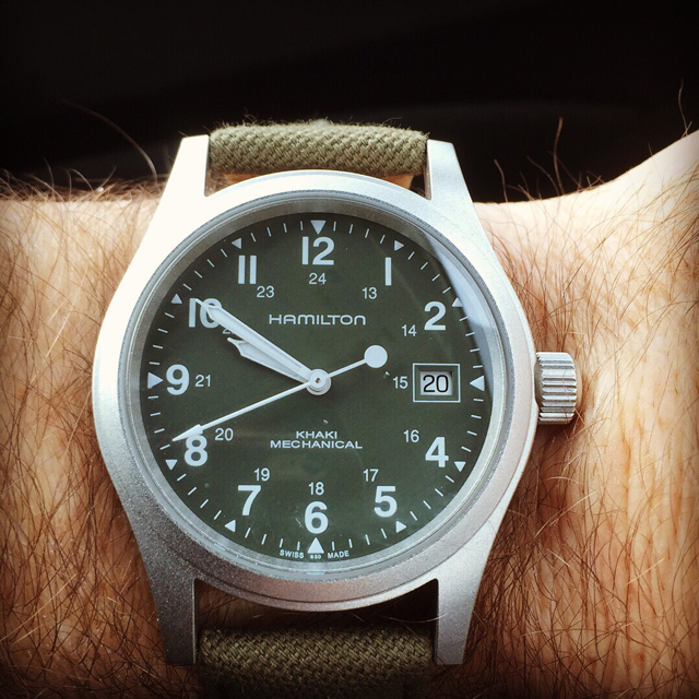 New Watch Arrival Hamilton Khaki Field Mechanical Green Dial Page 3