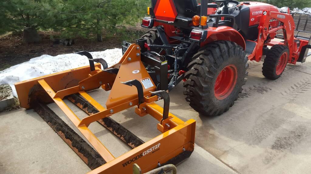 Kubota Box Blade : Grader scraper land plane leveler orangetractortalks