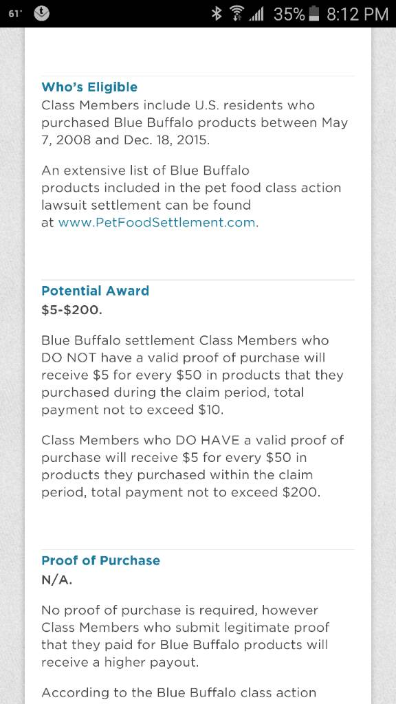Blue Buffalo Class Action Lawsuit - 2CoolFishing