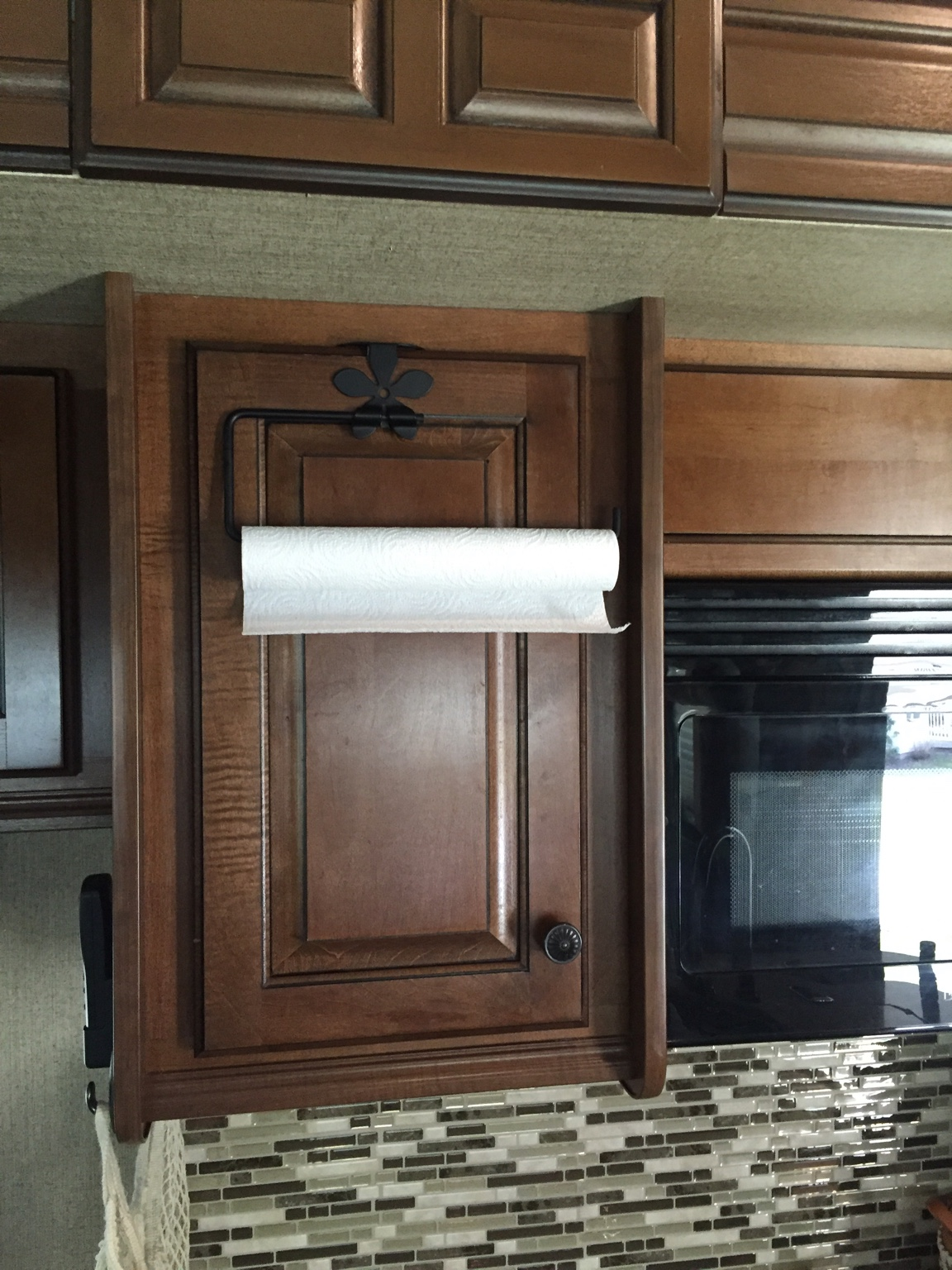 6 Door F350 >> Mounting Paper Towel Holder Under Upper Cabinet